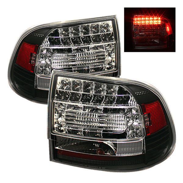 Spyder ALT-YD-PCAY03-LED-BK:  Porsche Cayenne 03-07 LED Tail Lights - Black