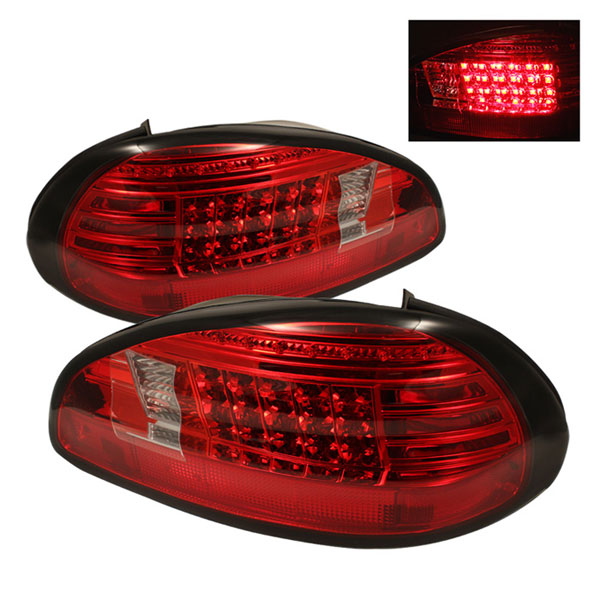 Spyder 5007162:  Pontiac Grand Prix 97-03 LED Tail Lights - Red Clear  - (ALT-YD-PGP97-LED-RC)