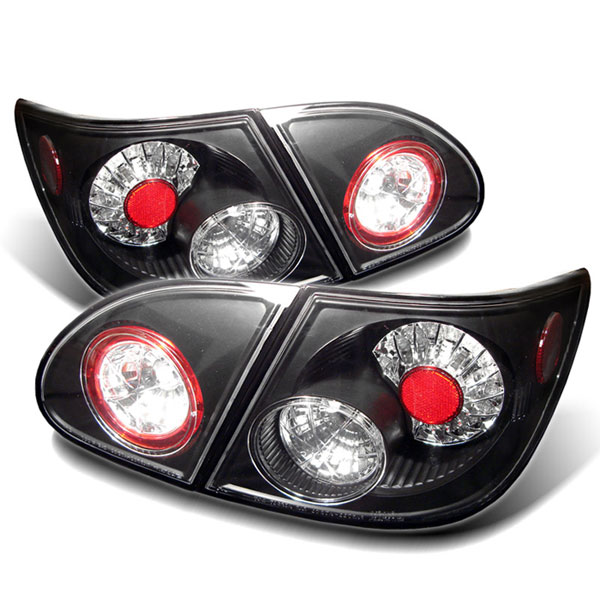 Spyder ALT-YD-TC03-LED-BK:  Toyota Corolla 03-08 LED Tail Lights - Black