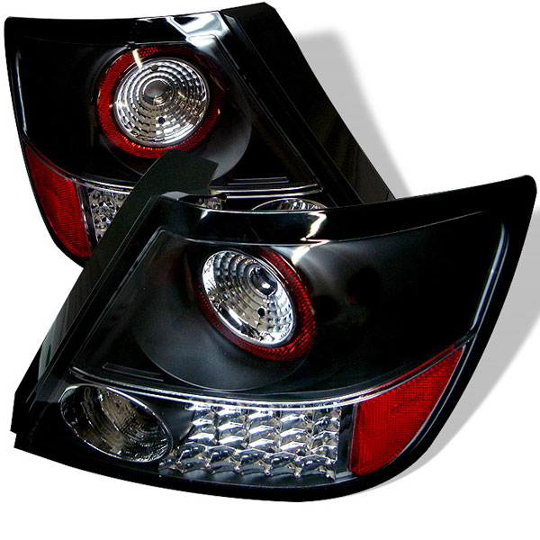 Spyder 5007704    Scion TC LED Tail Lights - Black - (ALT-YD-TSTC04-LED-BK); 2005-2010