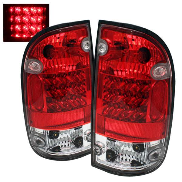 Spyder ALT-YD-TT01-LED-RC:  Toyota Tacoma 01-04 LED Tail Lights - Red Clear