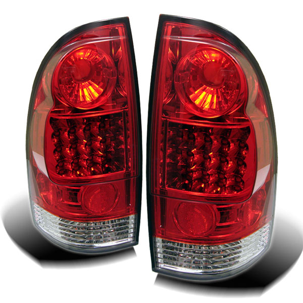 Spyder (5007933)  Toyota Tacoma 05-08 LED Tail Lights - Red Clear  - (ALT-YD-TT05-LED-RC)