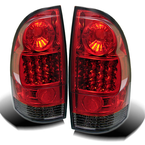 Spyder ALT-YD-TT05-LED-RS:  Toyota Tacoma 05-12 LED Tail Lights - Red Smoke