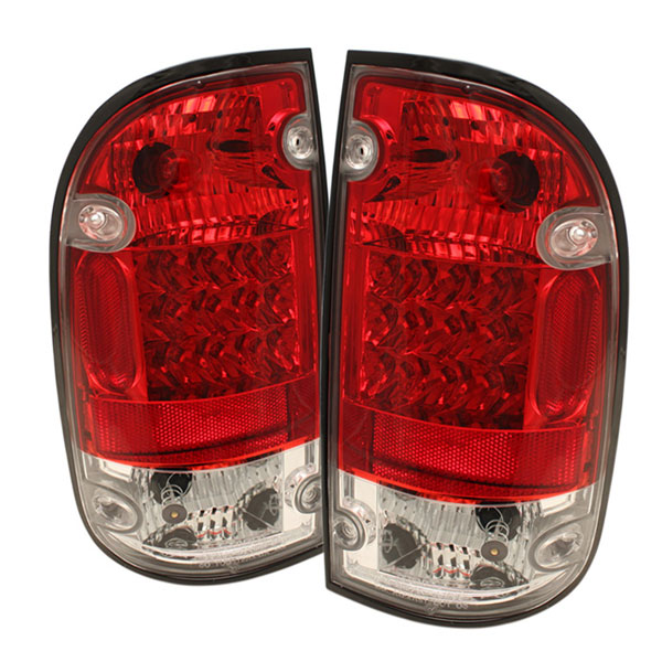 Spyder ALT-YD-TT95-LED-RC:  Toyota Tacoma 95-00 LED Tail Lights - Red Clear