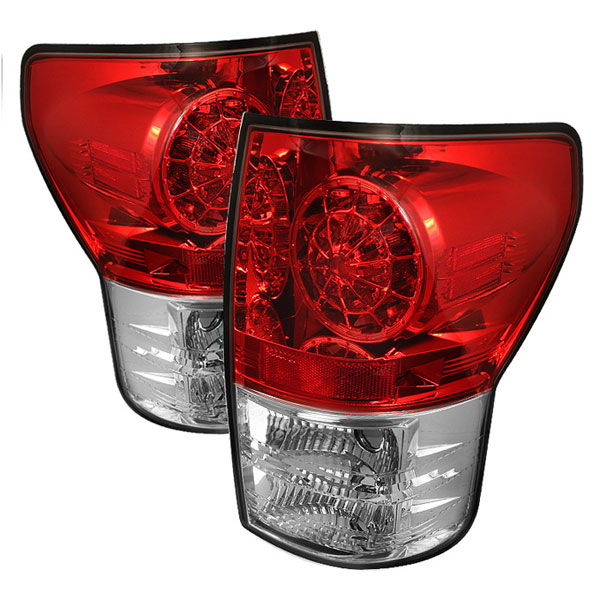 Spyder (5029607)  Toyota Tundra 07-12 LED Tail lights - Red Clear  - (ALT-YD-TTU07-LED-RC)