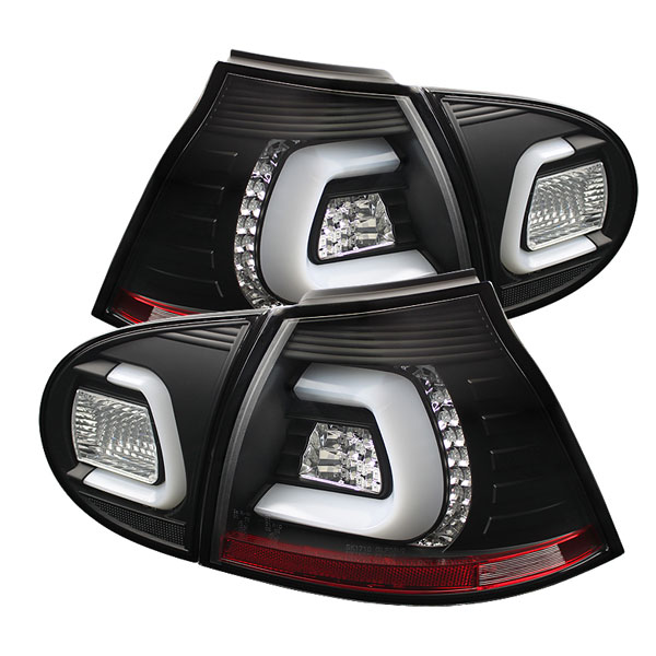 Spyder ALT-YD-VG03-LED-BK:  Volkswagen Golf V 06-09 LED TURN SIGNAL LED Tail Lights - Black