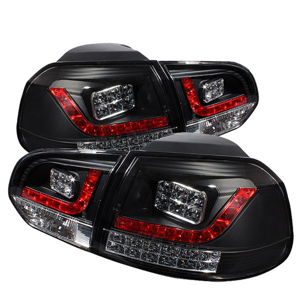 Spyder 5008176 |  Volkswagen Golf / GTI LED Tail Lights - Black - (ALT-YD-VG10-LED-BK); 2010-2012