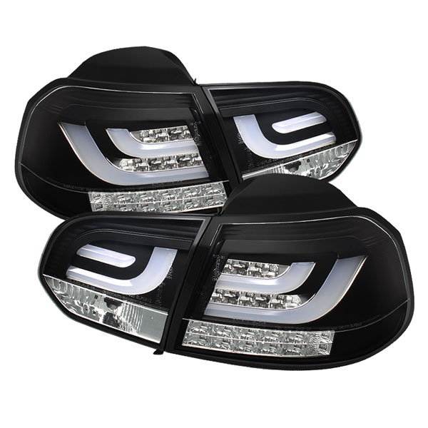 Spyder ALT-YD-VG10-LED-G2-BK:  Volkswagen Golf / GTI 10-12 G2 Type With Light Bar LED Tail Lights - Black