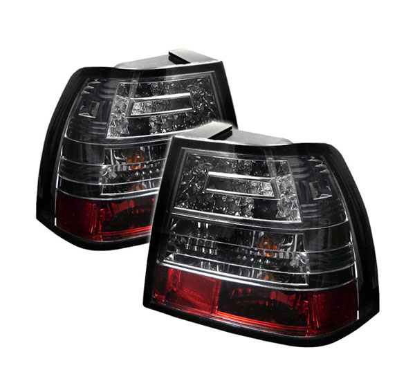 Spyder ALT-YD-VJ99-LED-SM:  Volkswagen Jetta 99-04 LED Tail Lights - Smoke