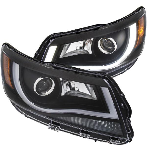 Anzo 111349 | ANZO USA Chevrolet Colorado Projector Headlights W/ Plank Style Design Black W/ Amber; 2015-2018