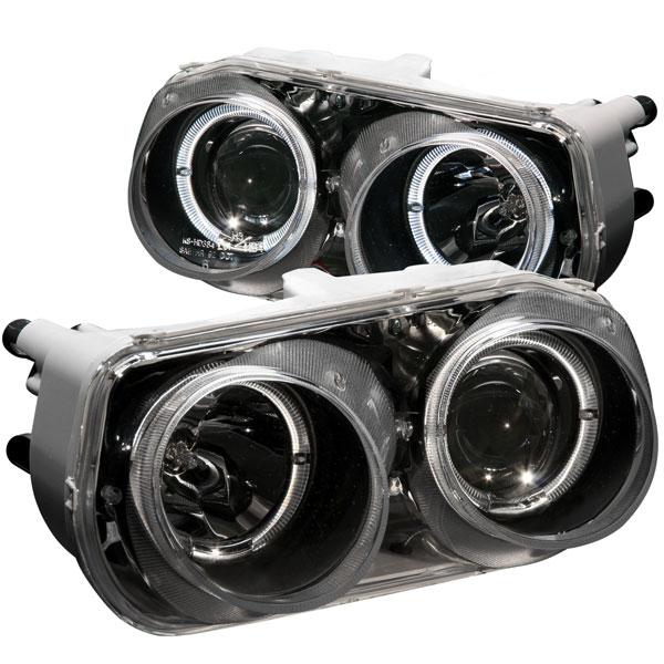 Anzo 121003 | ANZO USA Acura Integra Projector Headlights W/ Halo Black; 1994-1997
