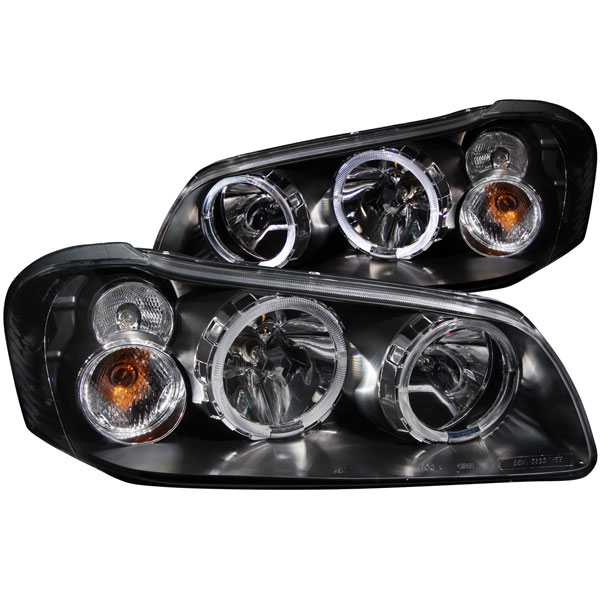 Anzo 121113 | ANZO USA Nissan Maxima Crystal Headlights W/ Halo Black; 2002-2003
