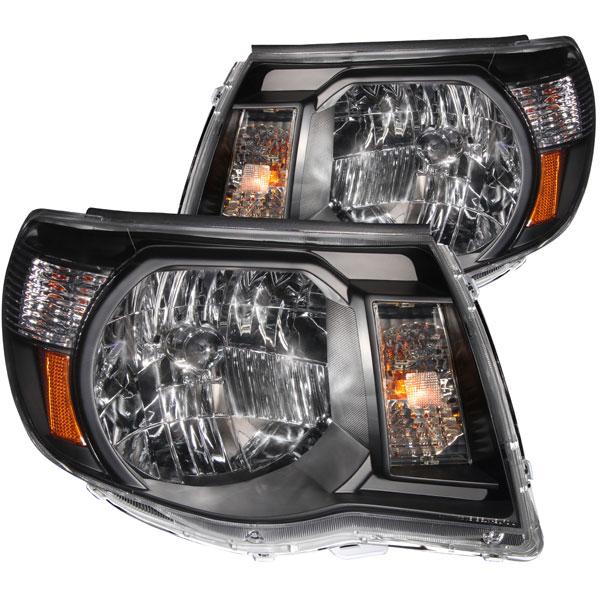 Anzo 121191 | ANZO USA Toyota Tacoma Crystal Headlights Black; 2005-2011