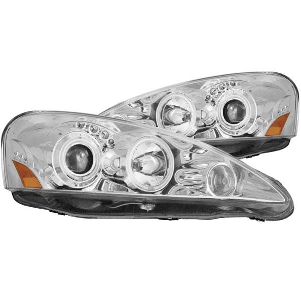 Anzo 121196 | ANZO USA Acura Rsx Projector Headlights W/ Halo Chrome; 2005-2006