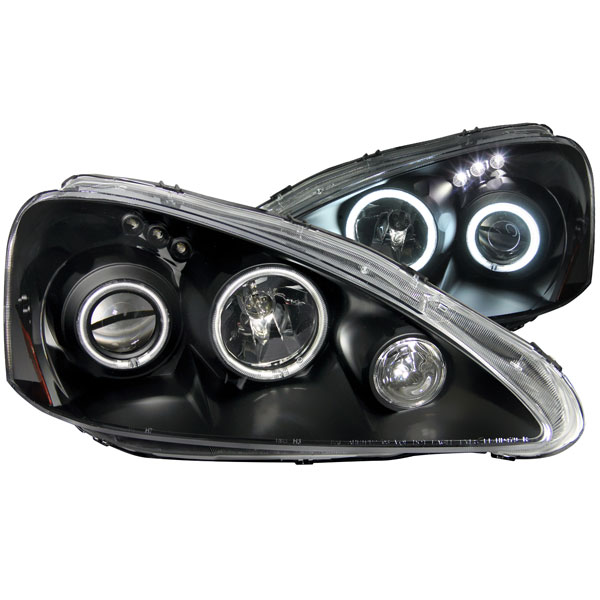 Anzo 121197 | ANZO USA Acura Rsx Projector Headlights W/ Halo Black; 2005-2006
