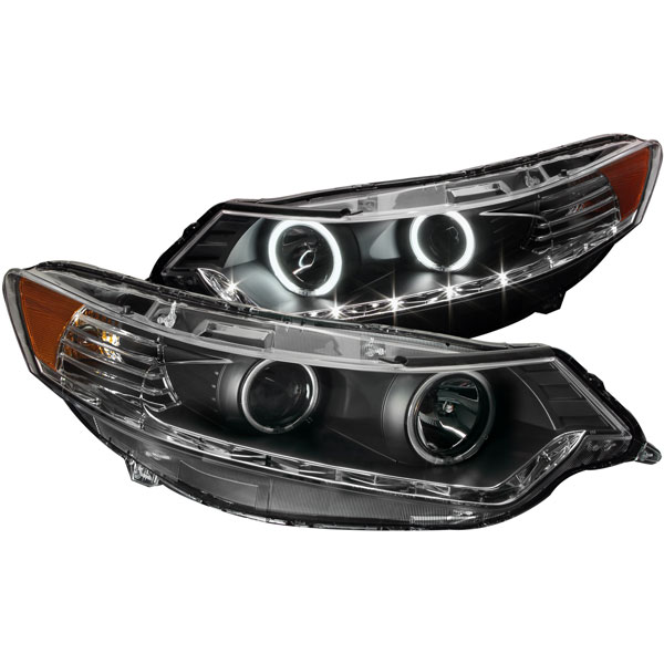Anzo 121393 | ANZO USA Acura Tsx Projector Headlights W/ Halo Black (Ccfl) (Hid Compatible), 2009-2012