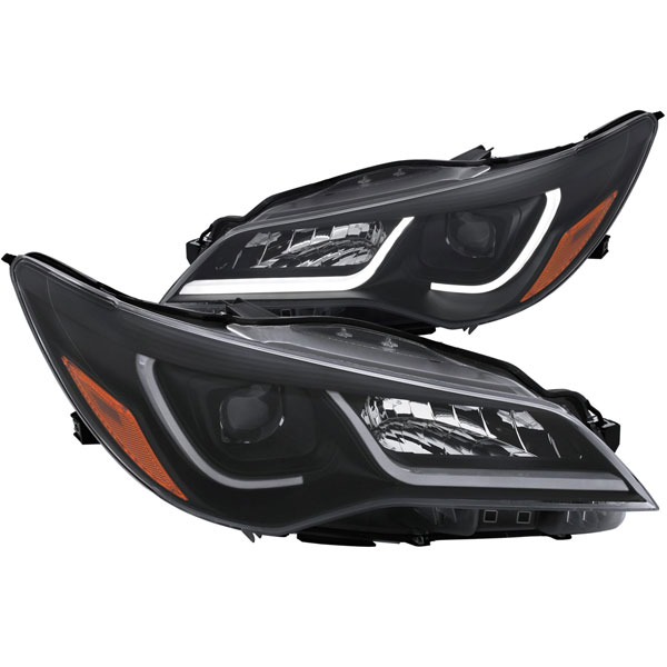 Anzo 121518 | ANZO USA Toyota Camry 4dr Projector Headlights W/ Plank Style Design Black W/ Amber; 2015-2016
