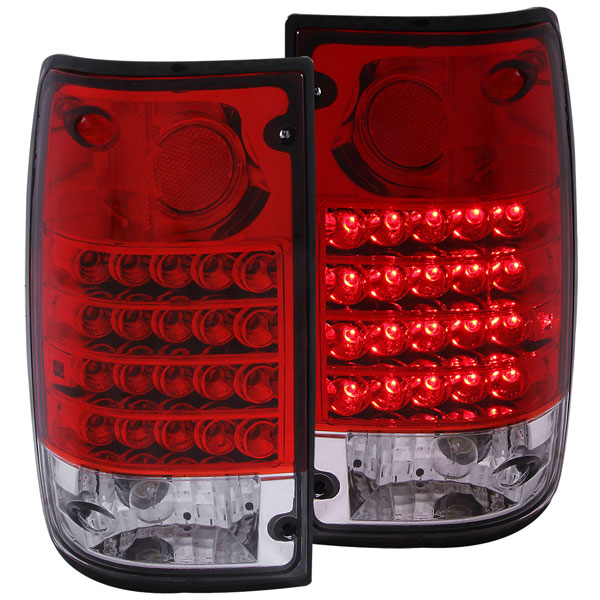 Anzo 311043 | ANZO USA Toyota Pickup Led Taillights Red/Clear; 1989-1995