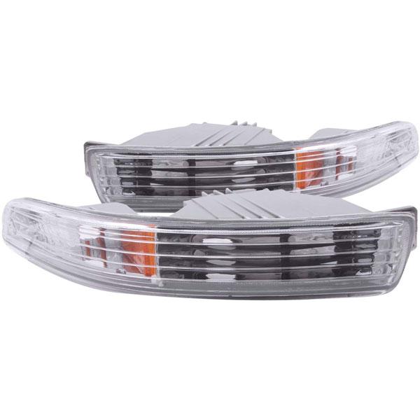 Anzo 511020 | ANZO USA Acura Integra Euro Parking Lights Chrome W/ Amber Reflector; 1994-1997