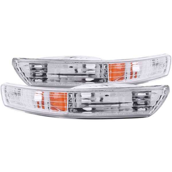 Anzo 511021 | ANZO USA Acura Integra Euro Parking Lights Chrome W/ Amber Reflector; 1998-2001