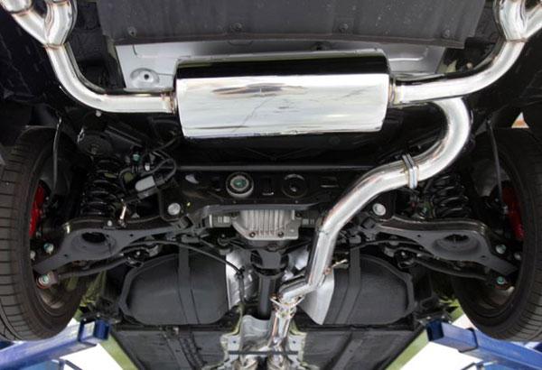 Agency Power AP-BK38-170S |  Catback Exhaust Hyundai Genesis 3.8L V6 Stainless Tip; 2009-2012