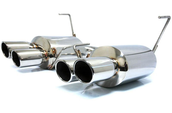 Agency Power AP-GRBS-170S:  Catback Exhaust System Polished Quad Tips Subaru STi WRX Sedan 11-13