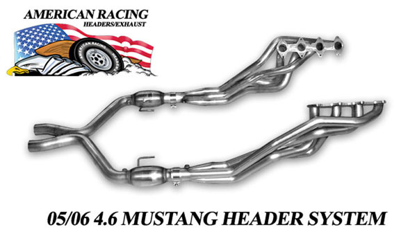 American Racing Headers ARH2007GT500:  ARH LongTube 1-3/4 304-SS Headers + X Pipe with cats for 2007-10 Mustang GT500 V8
