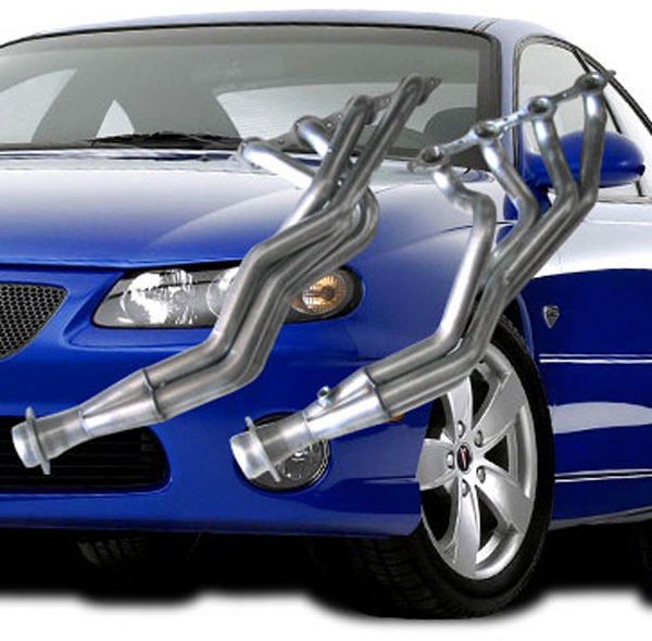 American Racing Headers ARHGTO1001K |  ARH LongTube 1-7/8 304-SS Headers w/ Connection Pipes and Catalytic Converters - GTO; 2004-2006