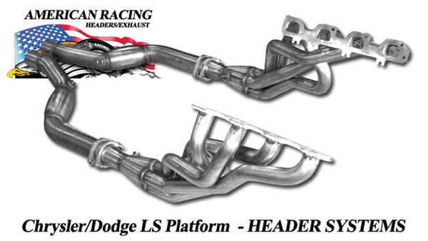 American Racing Headers ARHSRT8 |  ARH LongTube 1-7/8 X 3 304-SS Headers and Down Pipes SRT8 Challenger; 2008-2014
