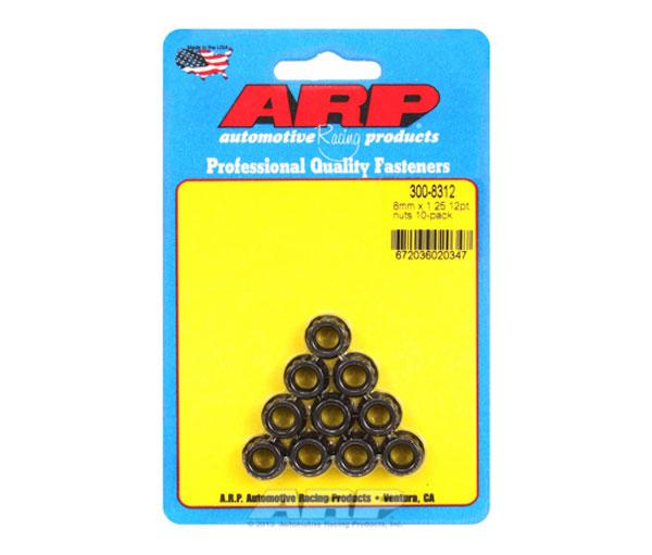ARP 300-8312 | M8 x 1.25 12pt Nut Kit (10/pkg)