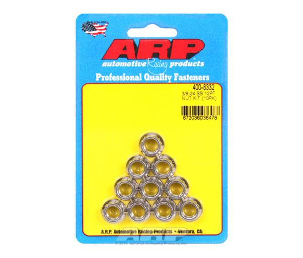 ARP 400-8332   3/8-24 SS 12pt Nut Kit