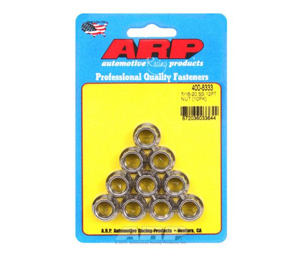 ARP 400-8333 | 7/16-20 SS 12pt Nut Kit