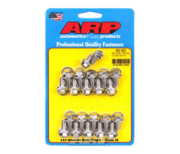 ARP 435-1802 | BB Chevy SS Hex Oil Pan Bolt Kit