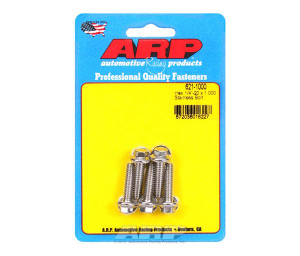 ARP 621-1000   1/4-20 x 1.000 Hex SS Bolts