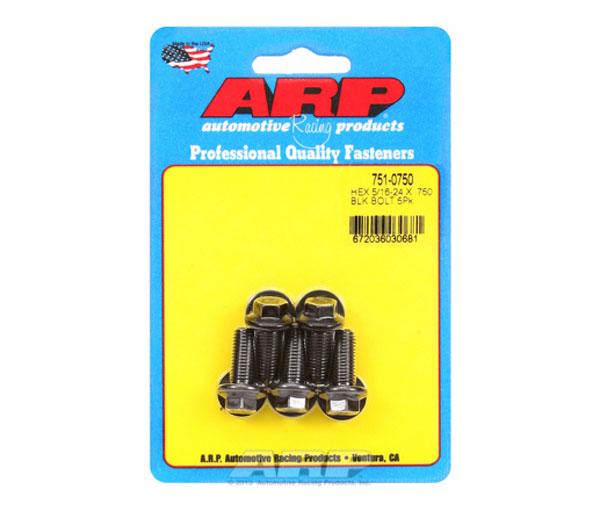 ARP 751-0750 | 5/16-24 x .750 Hex Black Oxide Bolts