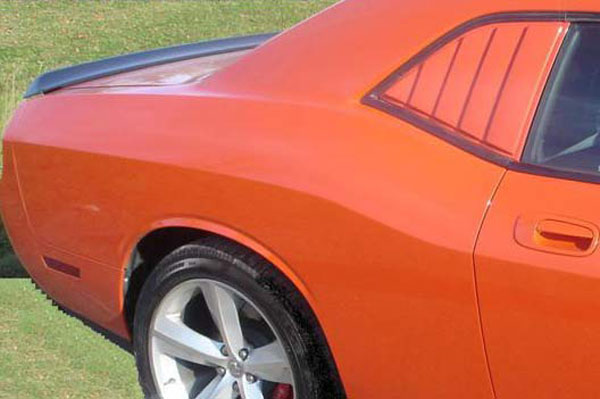 Astra Hammond 10565:  Side Window Louvers 2008-11 Challenger (unpainted)