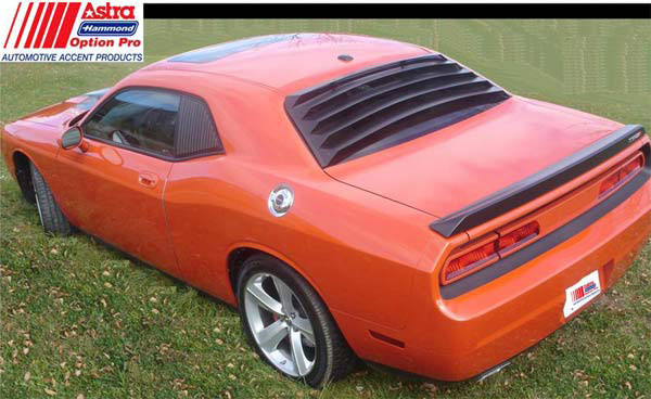 Astra Hammond 1564:  Rear Window Louver 2008-11 Challenger (unpainted)
