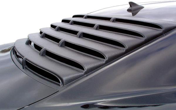 Astra Hammond 1565 | Astra-Hammond Camaro ABS Rear Window Louver - Textured Black; 2010-2012