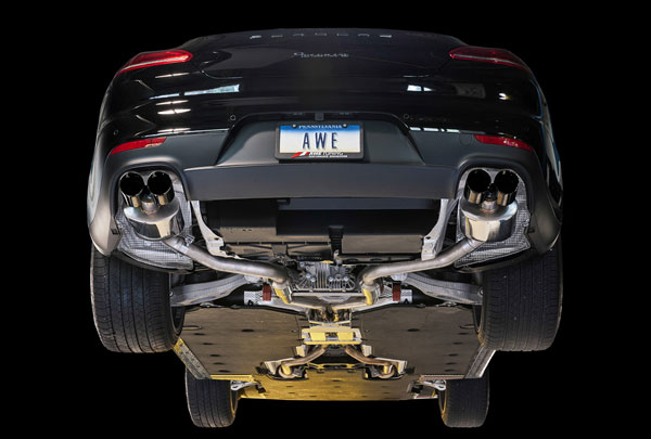 AWE Tuning 3020-43030 |  Porsche Panamera Base 3.6L 2/4 Track Edition Exhaust - With Diamond Black Tips, 2011-2013