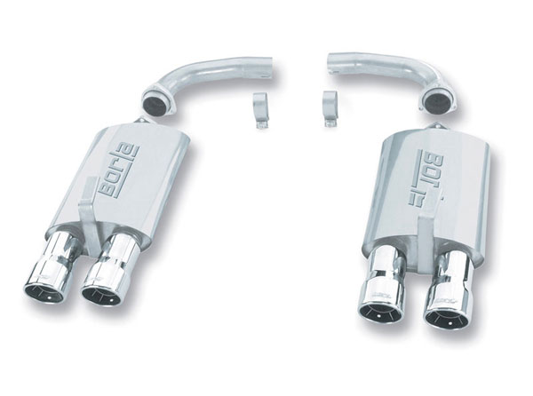 Borla Exhaust 11134 | Borla Rear Section Exhaust Rolled Round Tips 5.7L CORVETTE; 1985-1990