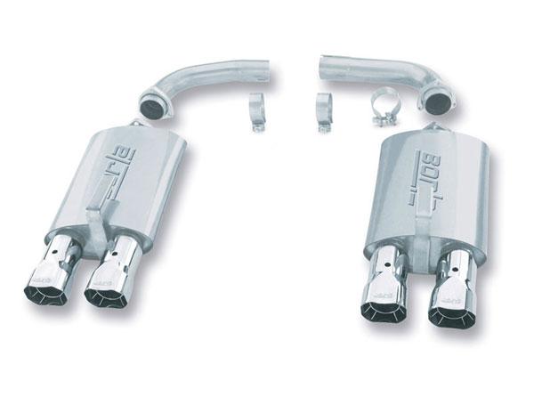 Borla Exhaust 11376   Borla Rear Section Kit SQR Tips CORVETTE; 1984-1991