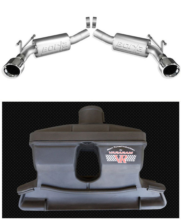 LMPerformance B11775VR |  Borla Camaro V8 Exhaust Rear Section S-Type + Vararam Camaro Cold Air Super Street System (no tune); 2010-2011