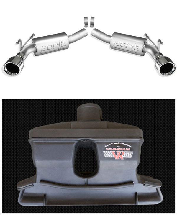 LMPerformance B11775VRT |  Borla Camaro V8 Exhaust Rear Section S-Type + Vararam Camaro Cold Air Super Street System (with tune); 2010-2011