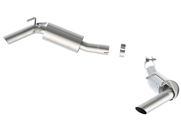 Borla 11850:  Camaro 2014 V8 Exhaust System - Rear Section - S-Type No Tips for Factory Ground Effects package