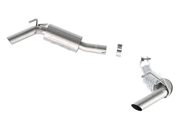 Borla Exhaust 11852 | Borla ATAK Camaro V8 Rear Section no Tips for use with Factory Ground Effects; 2014-2014