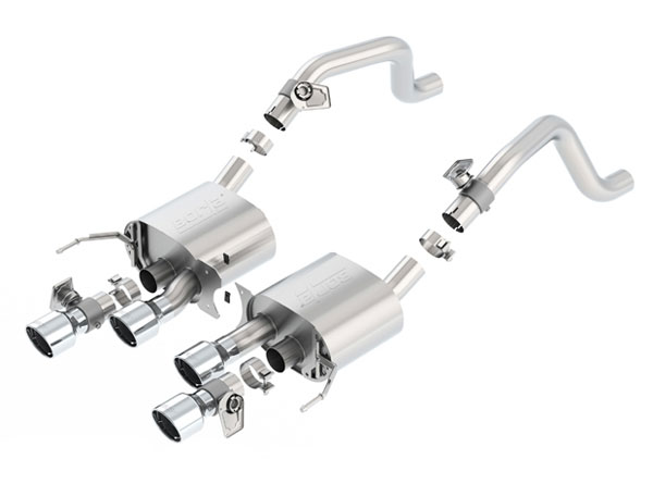 Borla 11855:  Corvette C7 Stingray Exhaust Axle Back S-Type w/NPP dual mode exhaust