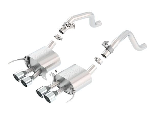 Borla Exhaust 11863 | Borla Chevrolet Corvette ATAK Axle-Back Section Exhaust, Stingray, Z06 V8 6.2; 2014-2016