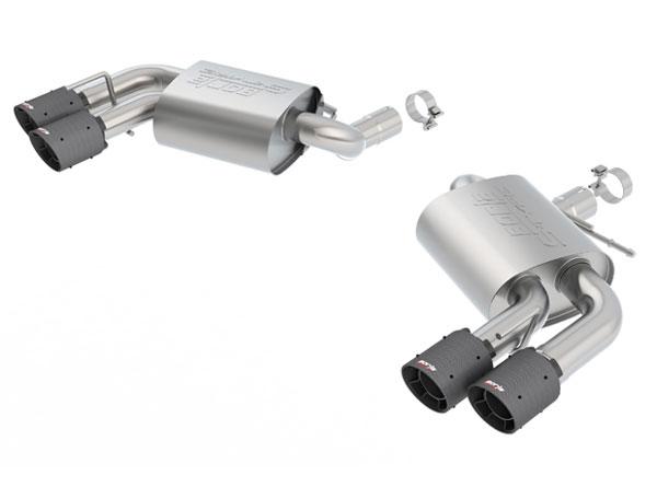 Borla Exhaust 11921CFBA | Borla Camaro SS Exhaust System - Rear Section Axle-Back - ATAK - Carbon Fiber Tips; 2016-2020