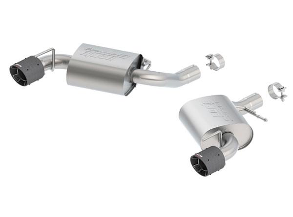 Borla Exhaust 11922CF   Borla Camaro SS Exhaust System - Rear Section Axle-Back - S-Type - Single Carbon Fiber Tips; 2016-2018