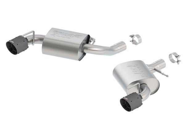 Borla Exhaust 11922CFBA   Borla Camaro SS Exhaust System - Rear Section Axle-Back - S-Type - Single Carbon Fiber Tips; 2016-2020